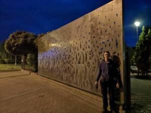 folga ściana z cortenu